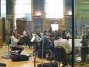 Ben Wallfisch conducting the Doghouse score at Air Lyndhurst studio 1